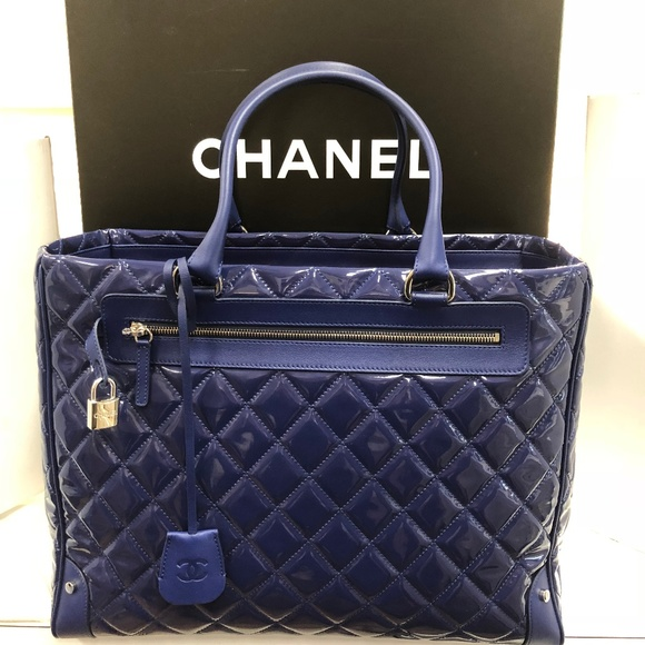e58abf808b96 CHANEL Bags | New Timeless Quilted Royal Blue Tote Bag | Poshmark